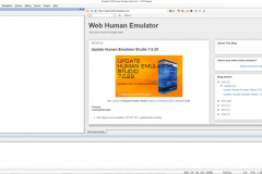 Main window XWeb Human Emulator Studio