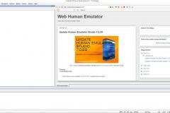 Main window XWeb Human Emulator Studio
