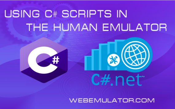 Using C # scripts in the Human Emulator