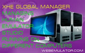 Managing Human Emulator Studio running on different computers